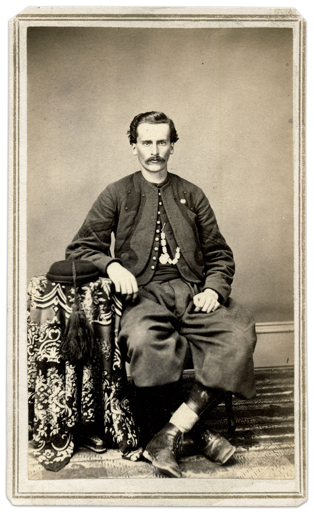 Shipley, pictured asa sergeant in the 44th New York Infantry.Carte de visite by Mills of Penn Yan, N.Y. Jan Gordon Collection.