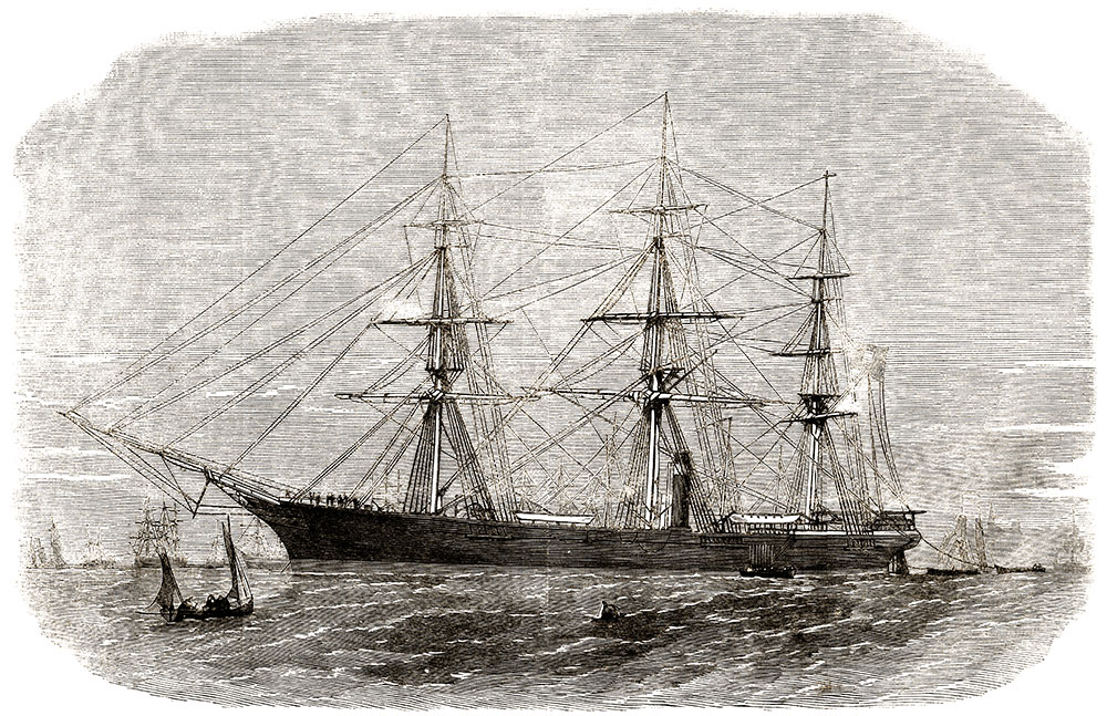 The Shenandoah pictured in the Dec. 16, 1865, issue of Harper's Weekly.