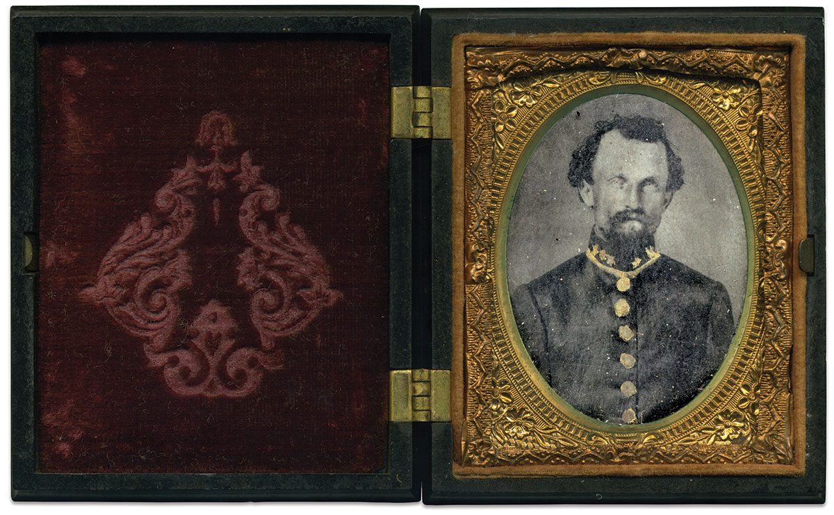 Ninth-plate ambrotype by an anonymous photographer. Matt Hagans Collection.