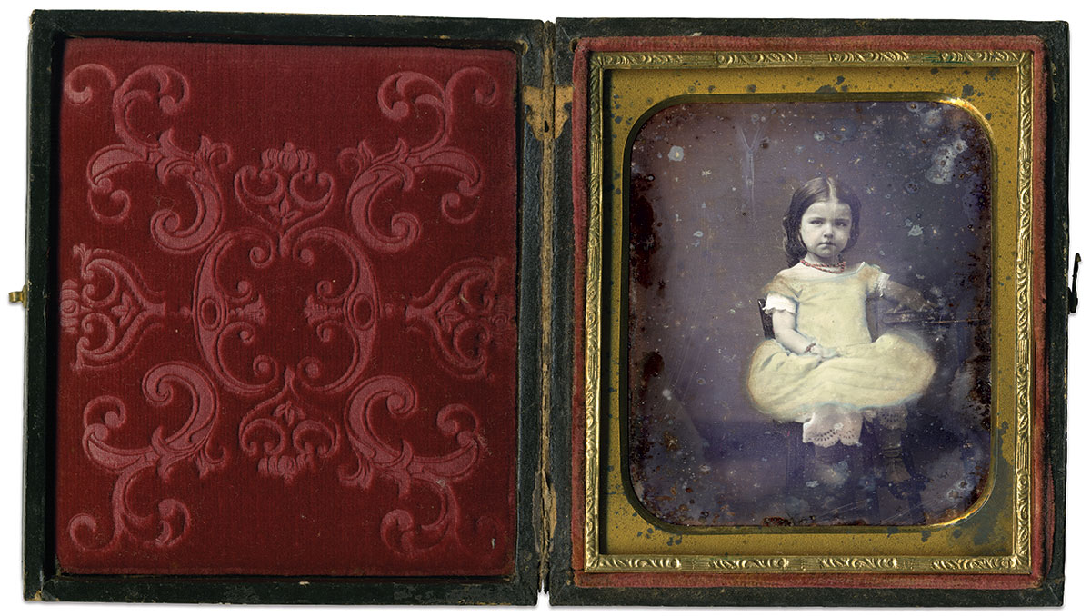 Sixth-plate daguerreotype by an anonymous photographer. Matt Hagans Collection.