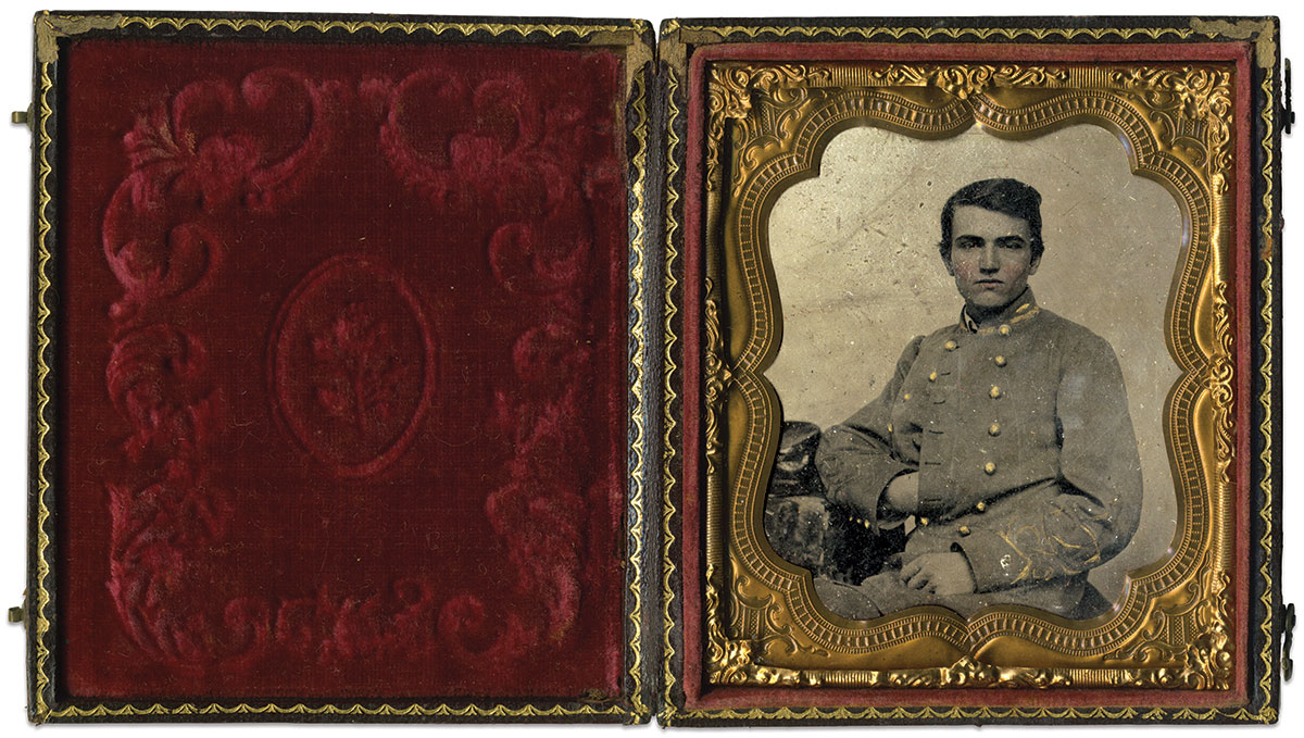 Sixth-plate tintype by an anonymous photographer. Matt Hagans Collection.