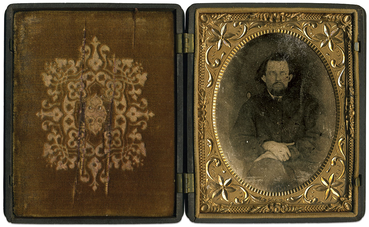 Quarter-plate tintype by an anonymous photographer. Matt Hagans Collection.