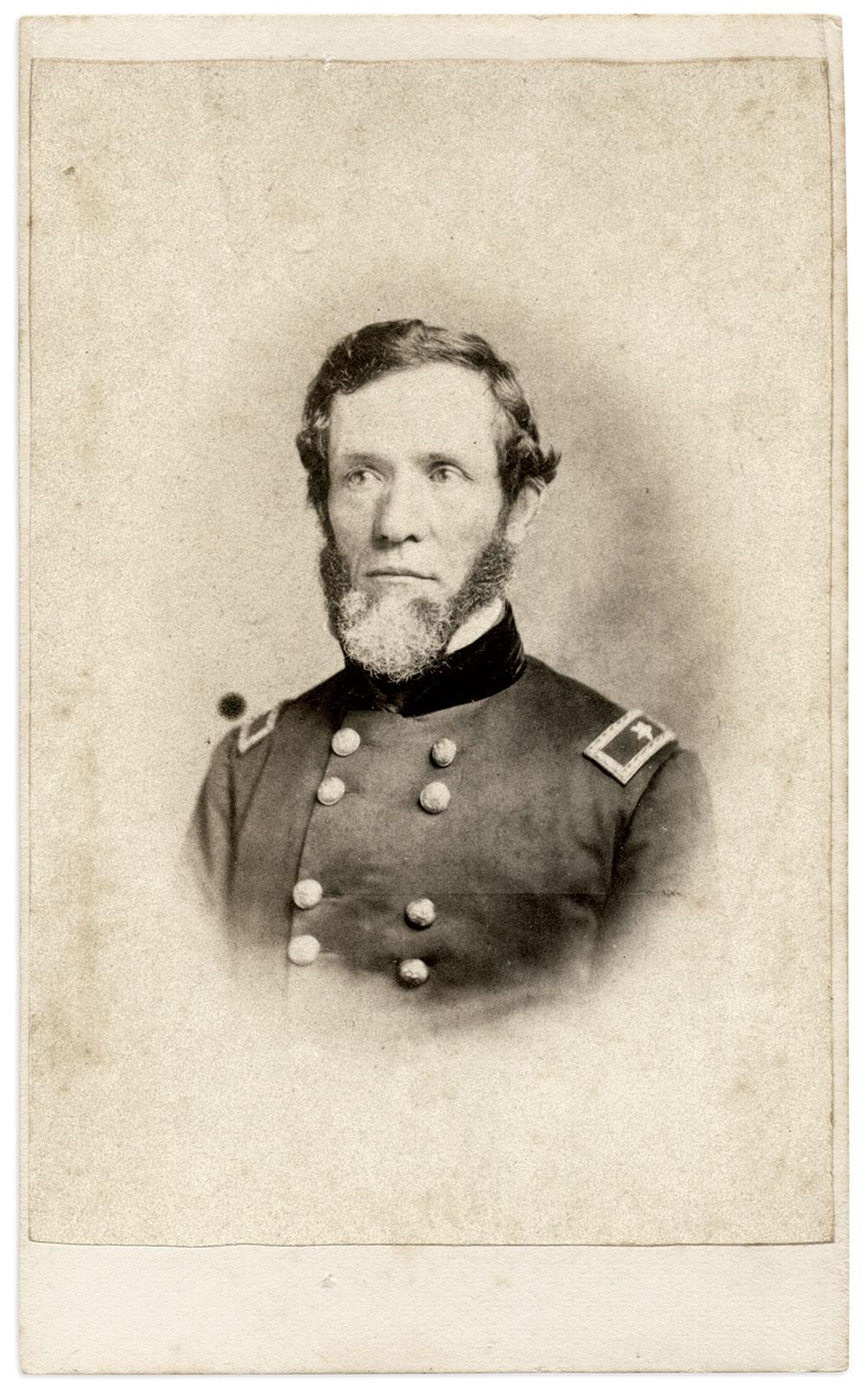 Q.M. Gen. Reuben C. Hale. Carte de visite by C.H. Spieler of Philadelphia, Pa. Marty Schoenfeld Collection.
