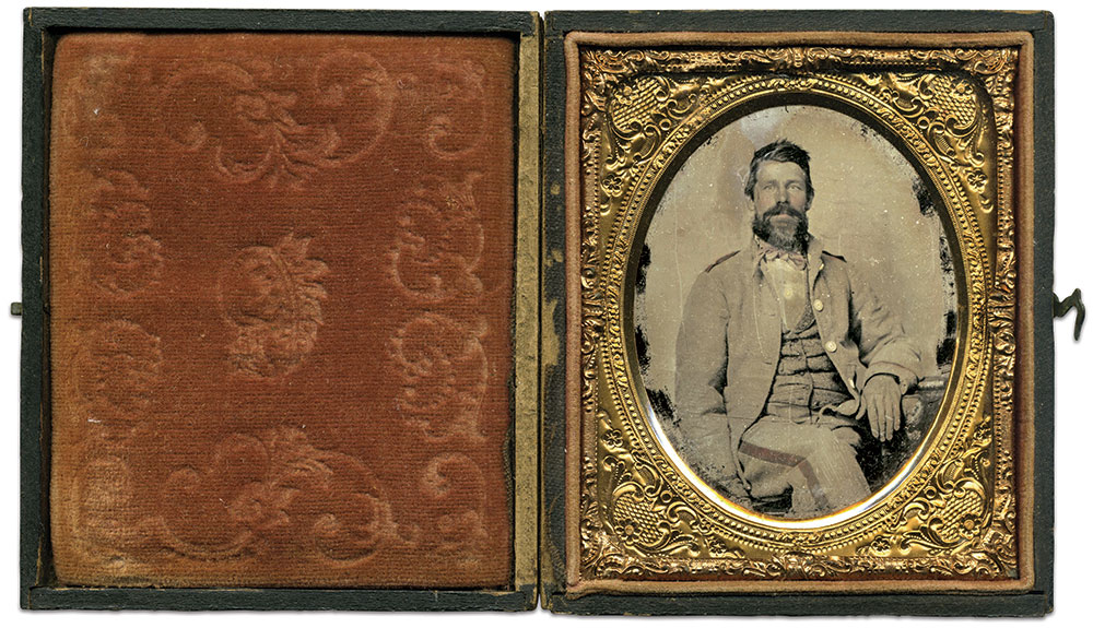 Sixth-plate ambrotype by an anonymous photographer. Dave Batalo Collection.