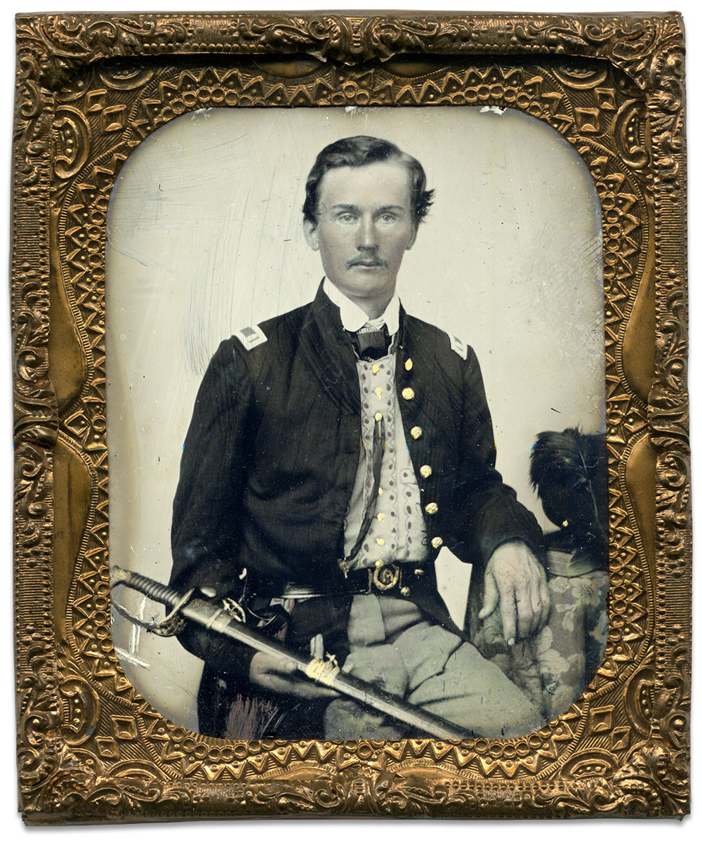 Sixth-plate ambrotype by an anonymous photographer. Brian Boeve collection.