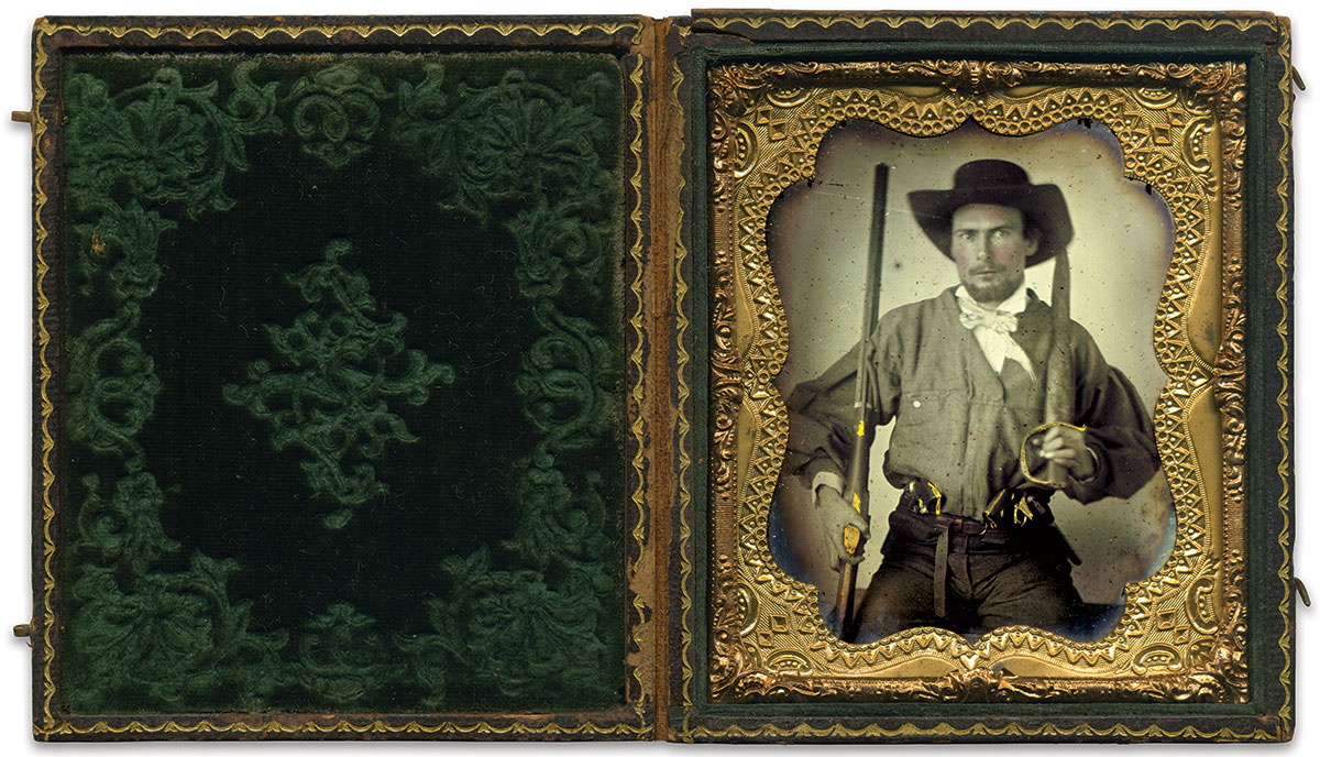 Sixth-plate ambrotype by an anonymous photographer. Dennis Headlee Collection.