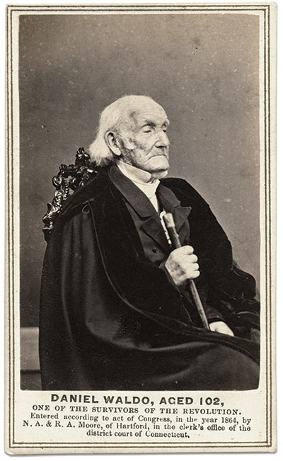 Carte de visite of Rev. Waldo by Nelson Augustus Moore and Roswell A. Moore of Hartford, Conn. Ronald S. Coddington Collection.