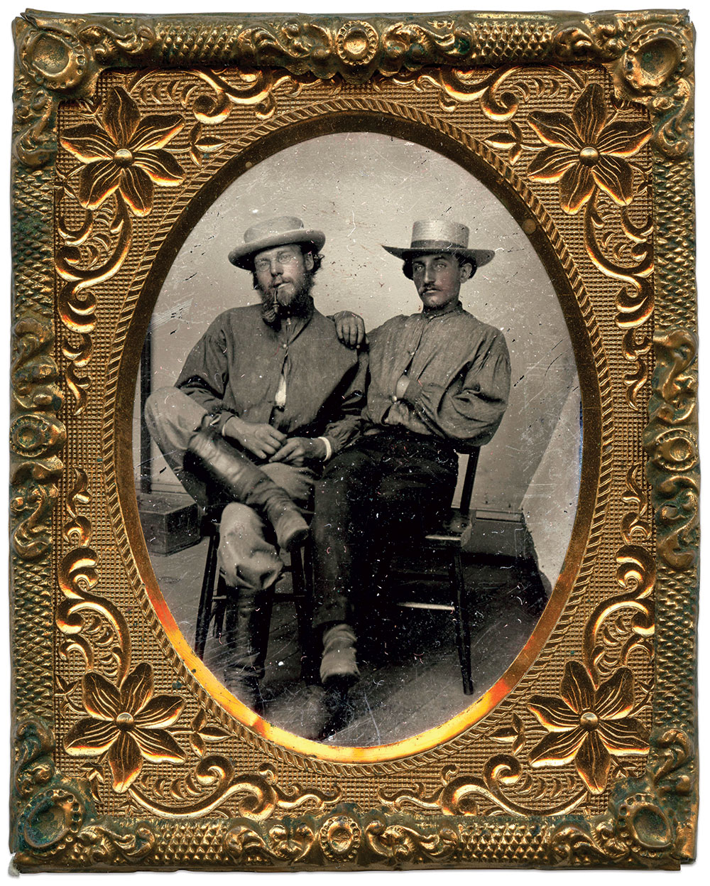 Ellsworth, right, with Henry S. Bethards of the 14th Kentucky Cavalry. Dave Batalo Collection.