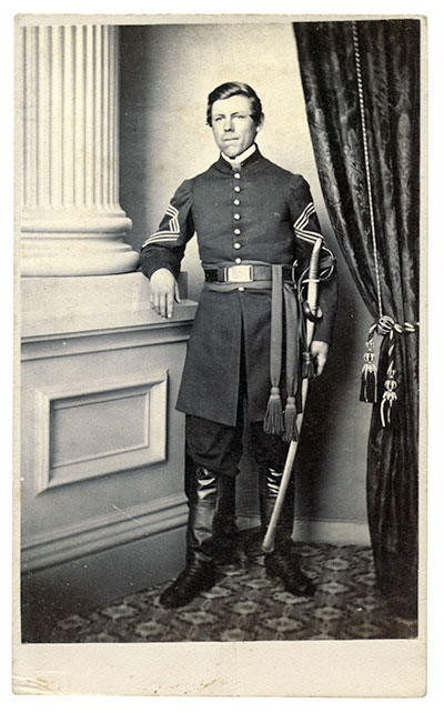 Carte de visite by Tyson Brothers of Gettysburg, Pa. Rick Carlile collection.