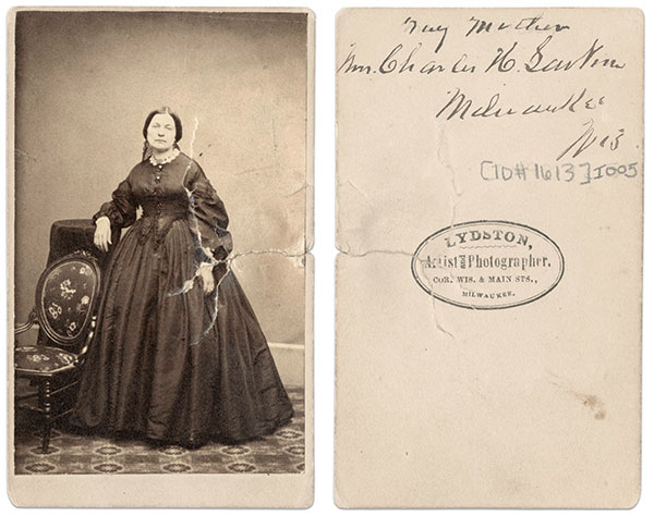 Louise Larkin. Carte de visite by Lydston of Milwaukee, Wis.