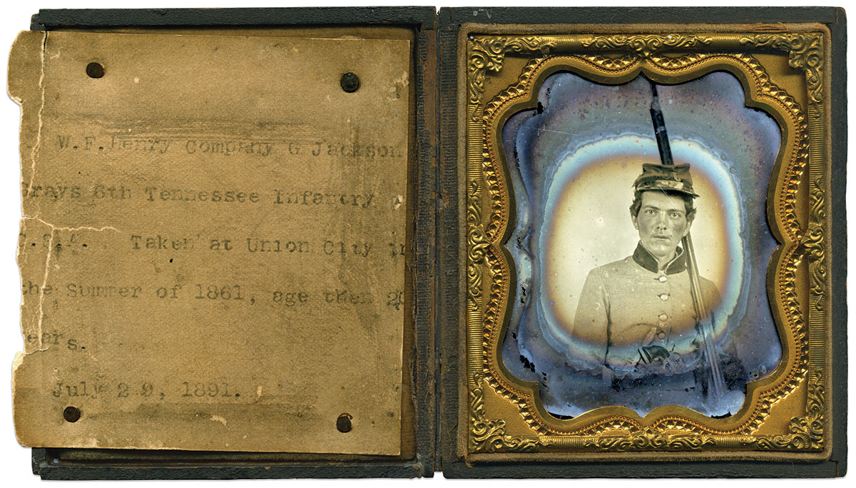 Sixth-plate ambrotype by an anonymous photographer. Mike Hunt Collection.