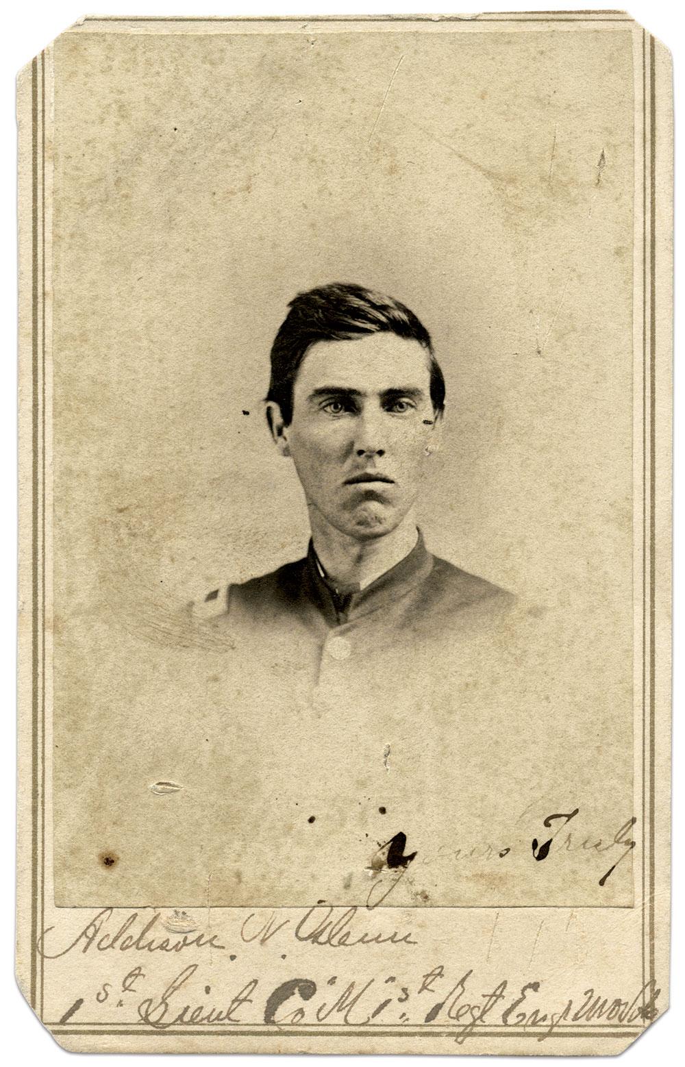 Carte de visite by Algenon S. Morse of Nashville, Tenn. Stan Hutson Collection.