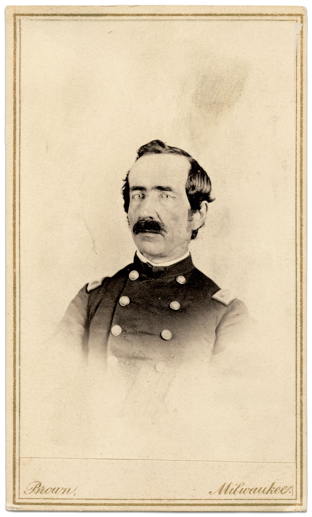 Carte de visite by H.S. Brown of Milwaukee, Wis. Jim Rivest Collection.