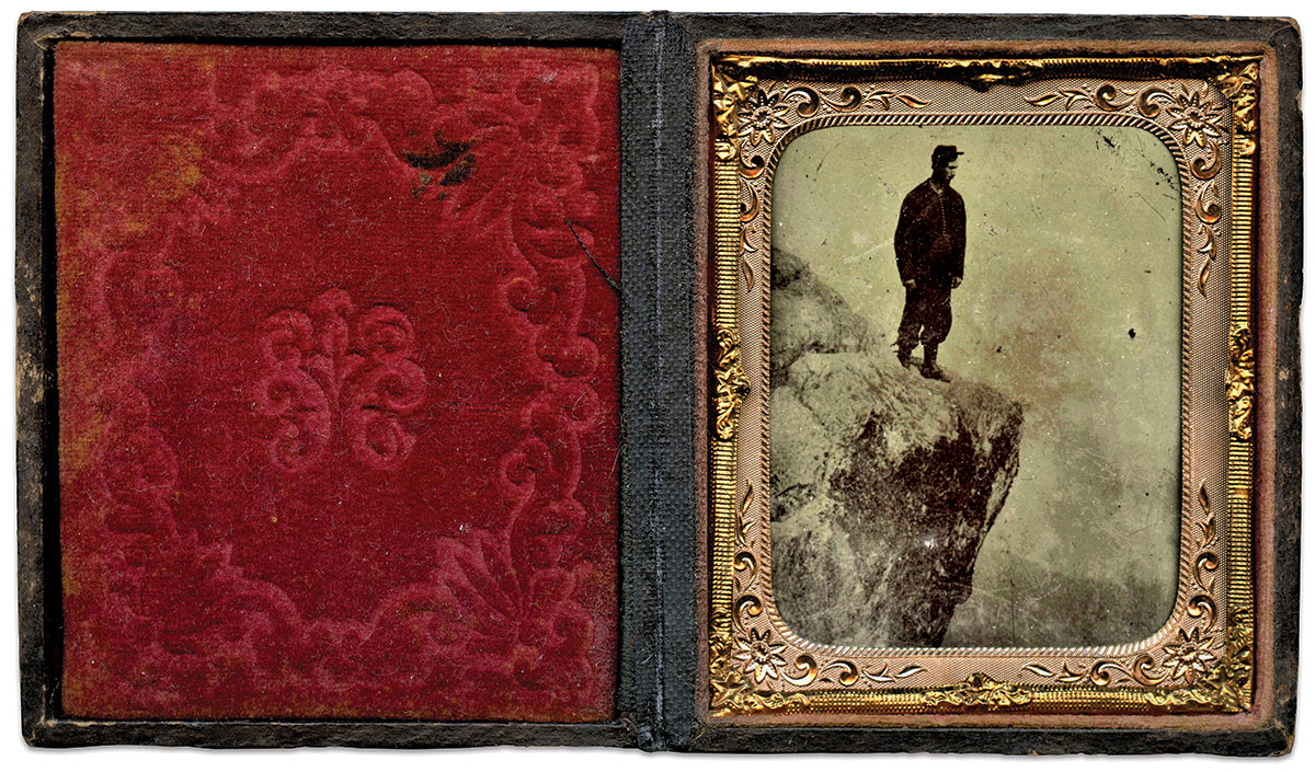 Sixth-plate tintype from the Guy DeMasi Collection.