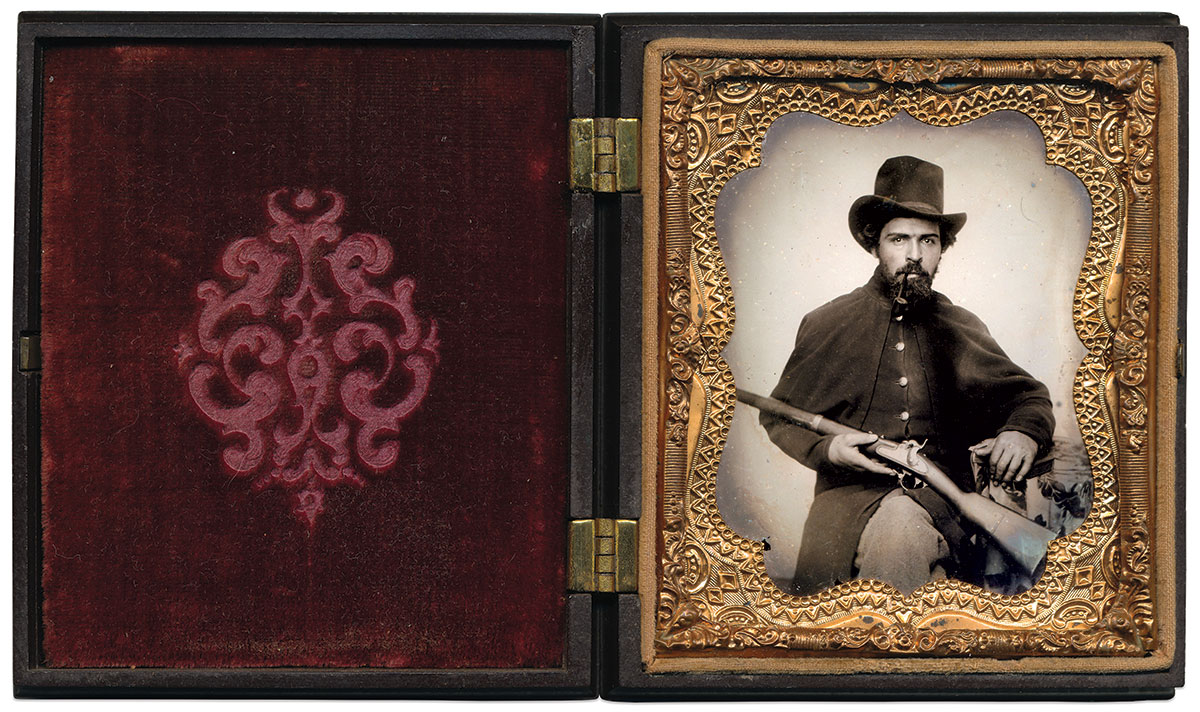 Sixth-plate ambrotype by an anonymous photographer. Dan Schwab Collection.