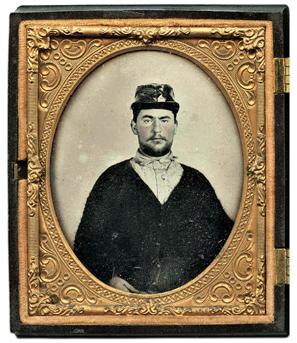 Sixth-plate ambrotype by an anonymous photographer. Guy DiMasi Collection.