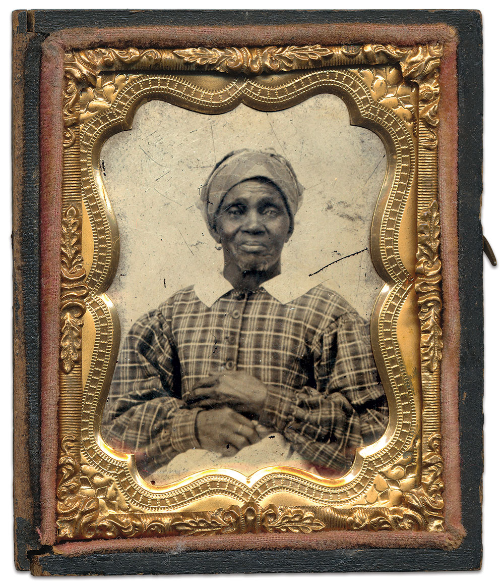 Diven Glover. Ninth-plate ambrotype by an anonymous photographer. Dan Schwab Collection.