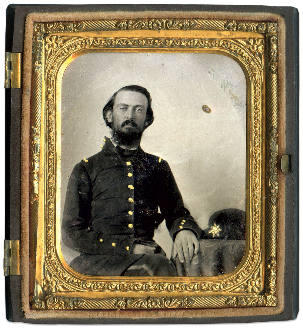 Arthur Gloster. Sixth-plate tintype by anonymous photographer. Daniel Taylor Collection.