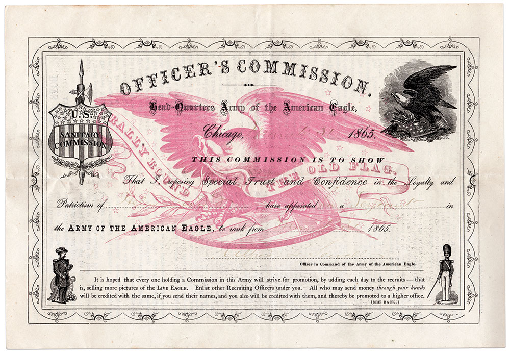 COMMISSIONS FOR KIDS: Program participants earned formal commissions depending upon the number of Old Abe cartes purchased.