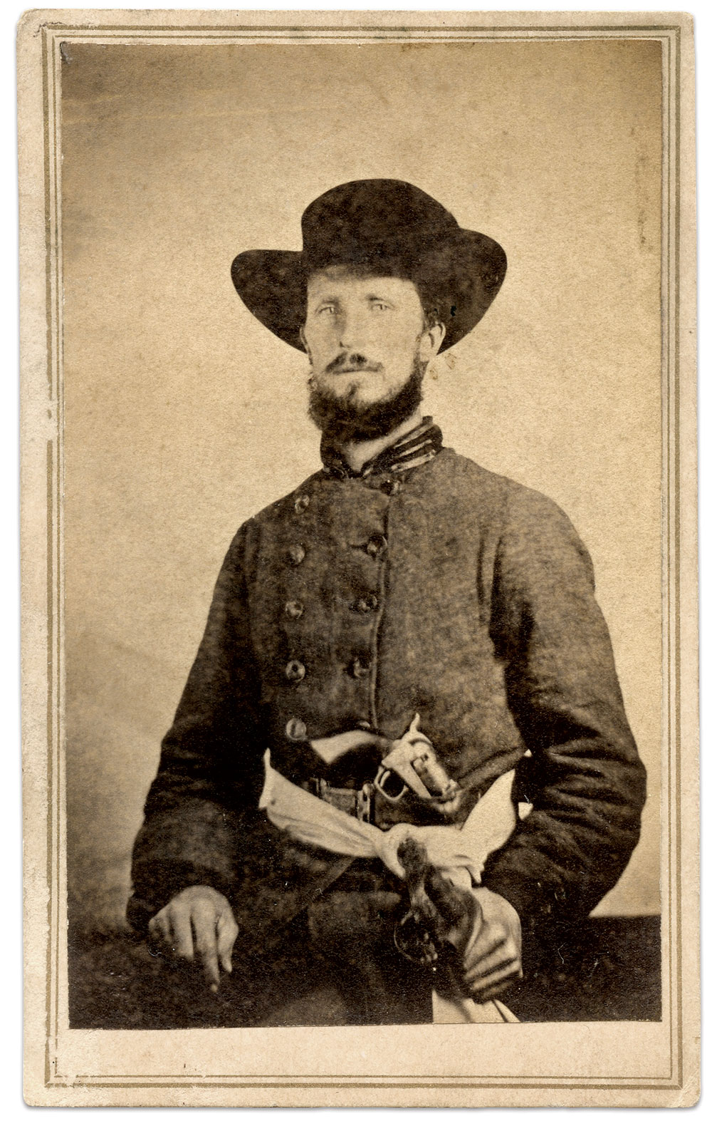 Carte de visite by Fittman & Wolfrom of Trenton, Tenn. Daniel Taylor Collection.