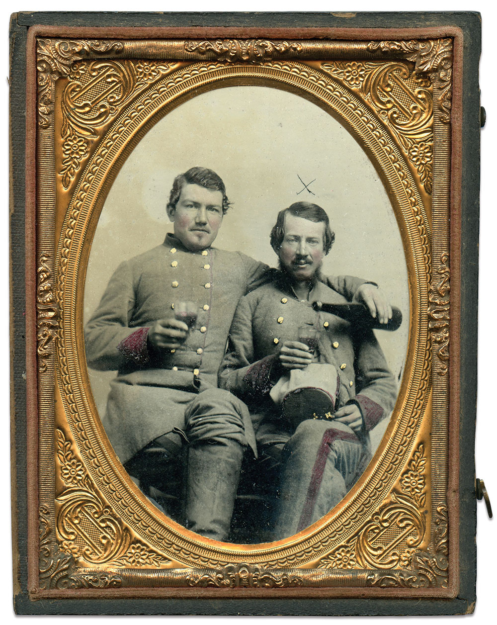 Quarter-plate ambrotype by an anonymous photographer. Daniel Taylor Collection.