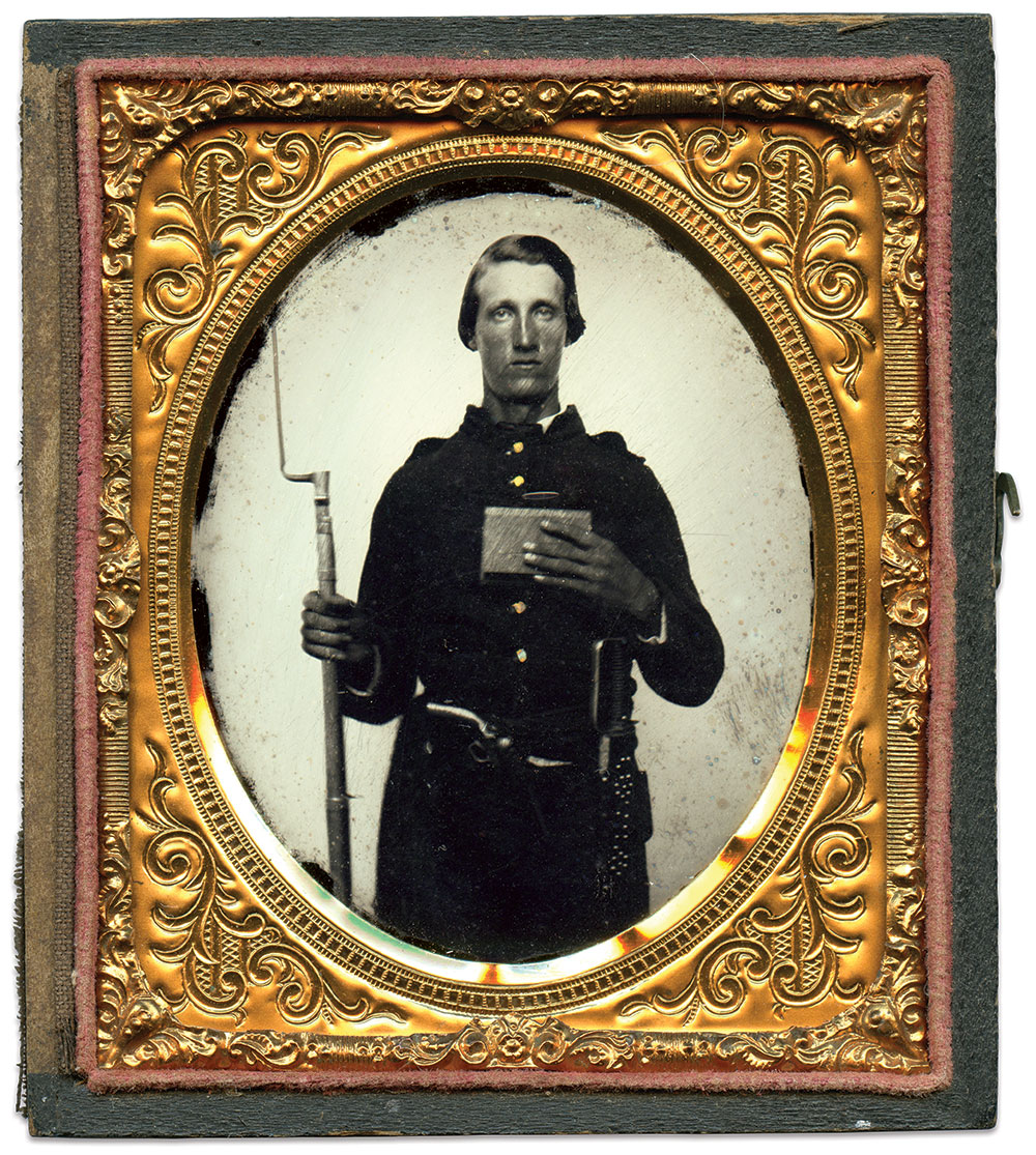 Sixth-plate ambrotype by an anonymous photographer. Daniel Taylor Collection.