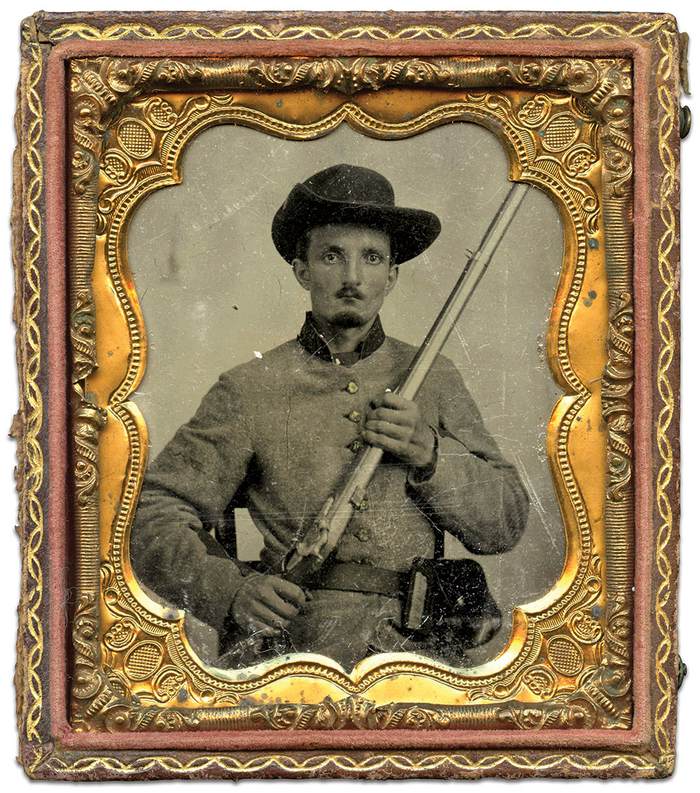 Sixth-plate tintype by an anonymous photographer. Bryan Watson Collection.