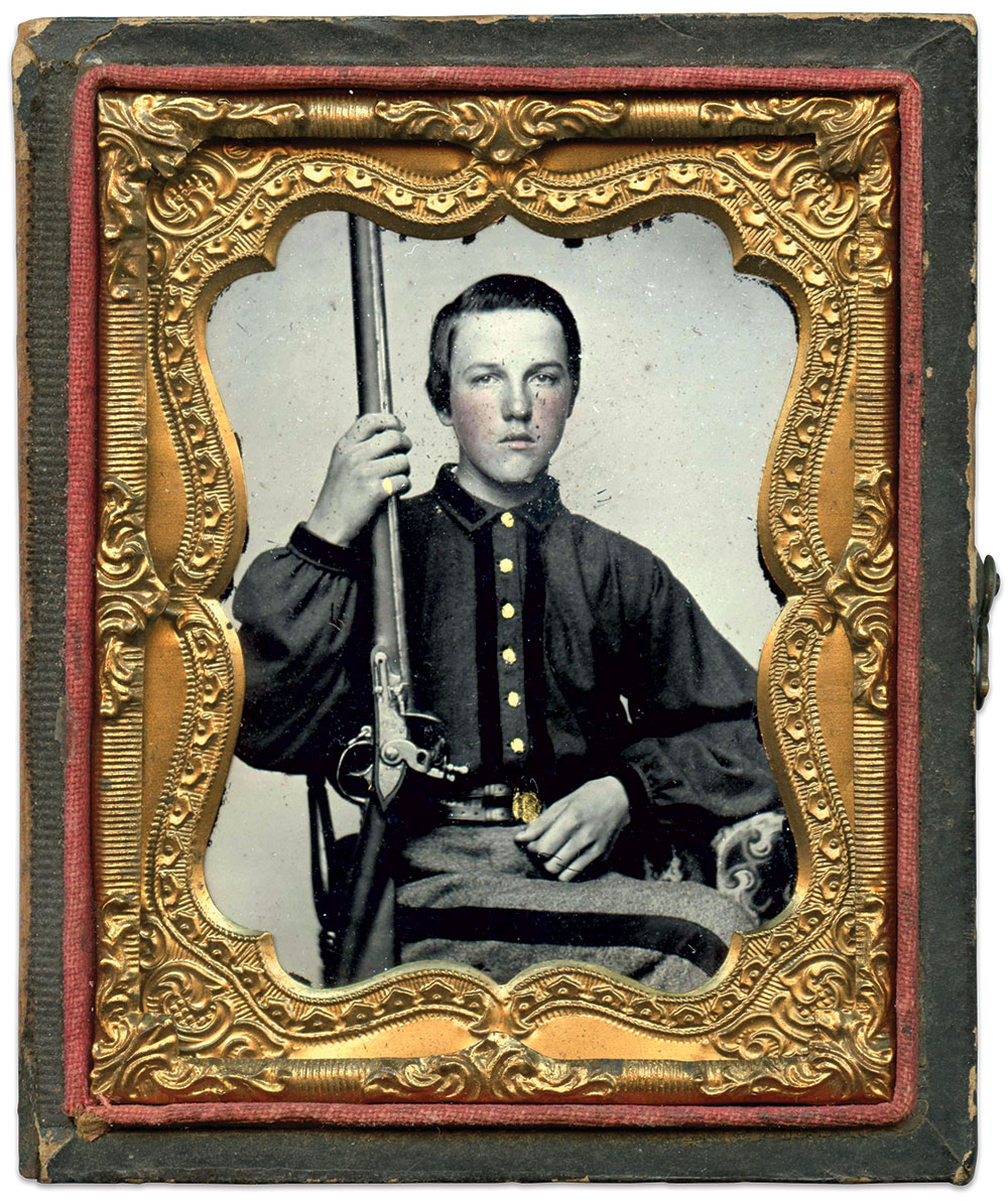 Ninth-plate ambrotype by an anonymous photographer. Bryan Watson Collection.