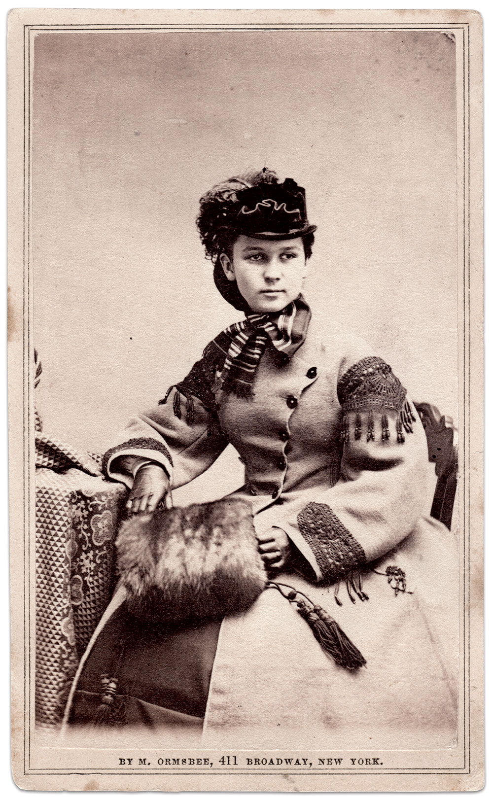 Evans. Carte de visite by Marcus Ormsbee of New York City. Author's collection.