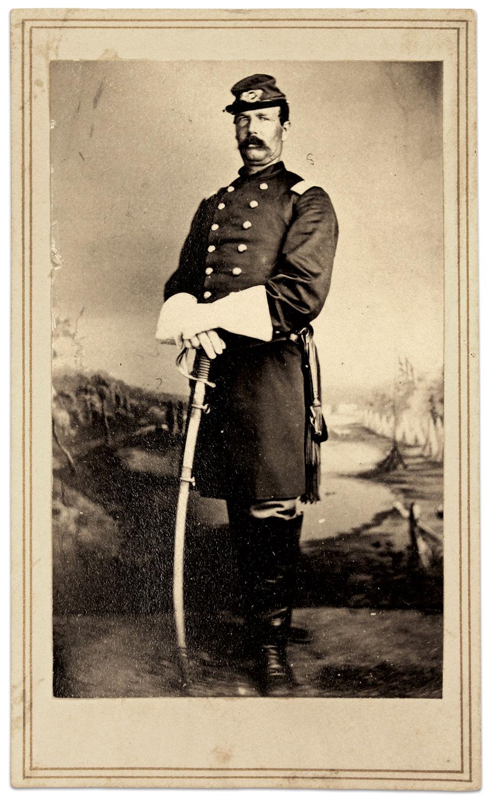 Col. Kellogg. Carte de visite by an anonymous photographer.Buck Zaidel Collection.
