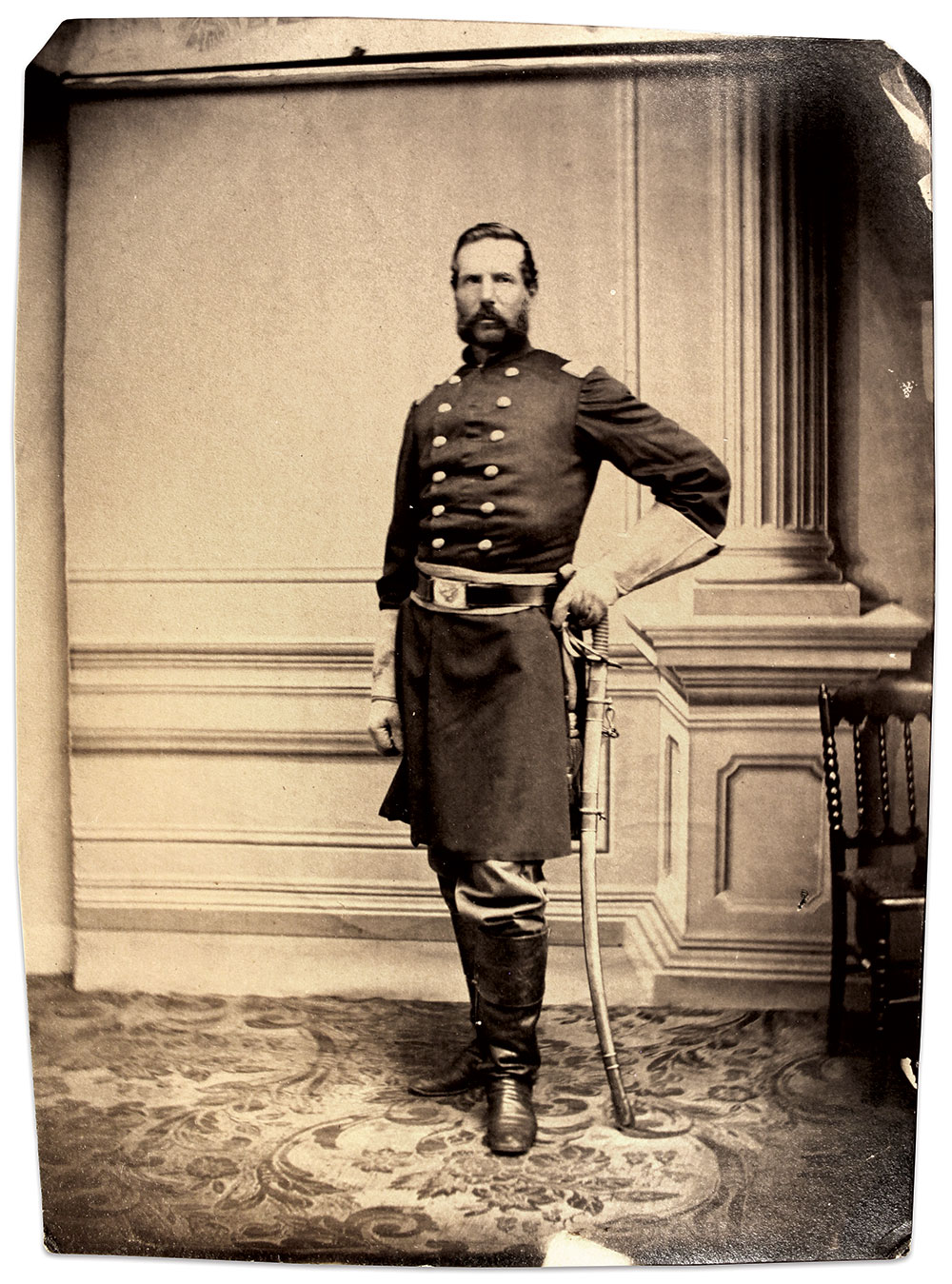 Kellogg posed for this portrait early in the war. Albumen print by an anonymous photographer.Buck Zaidel Collection.