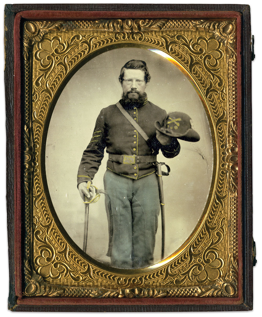 Quarter-plate tintype by an anonymous photographer. Rich Jahn Collection.