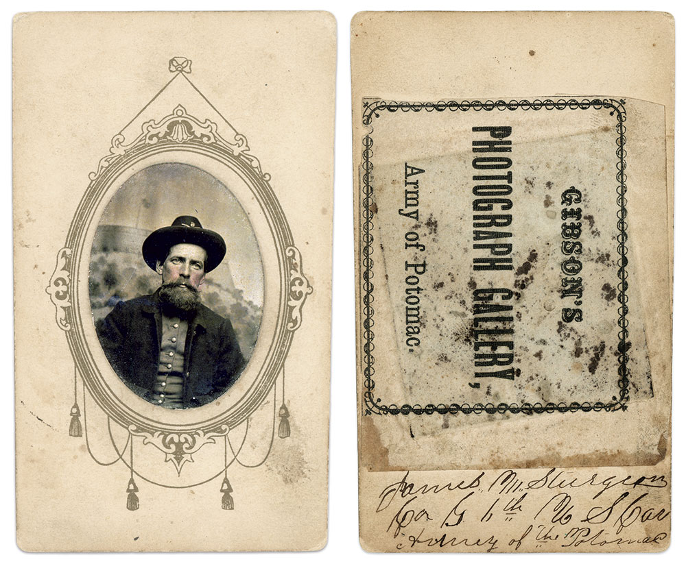 Ninth-plate tintype by James F. Gibson. Charles Joyce Collection.