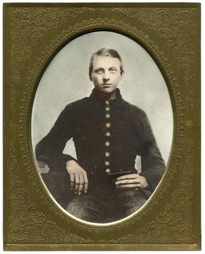 Jefferson Quattlebaum served with his brother Joe in the 13th. 20th century copy print of an original portrait, location unknown. David Quattlebaum Collection.