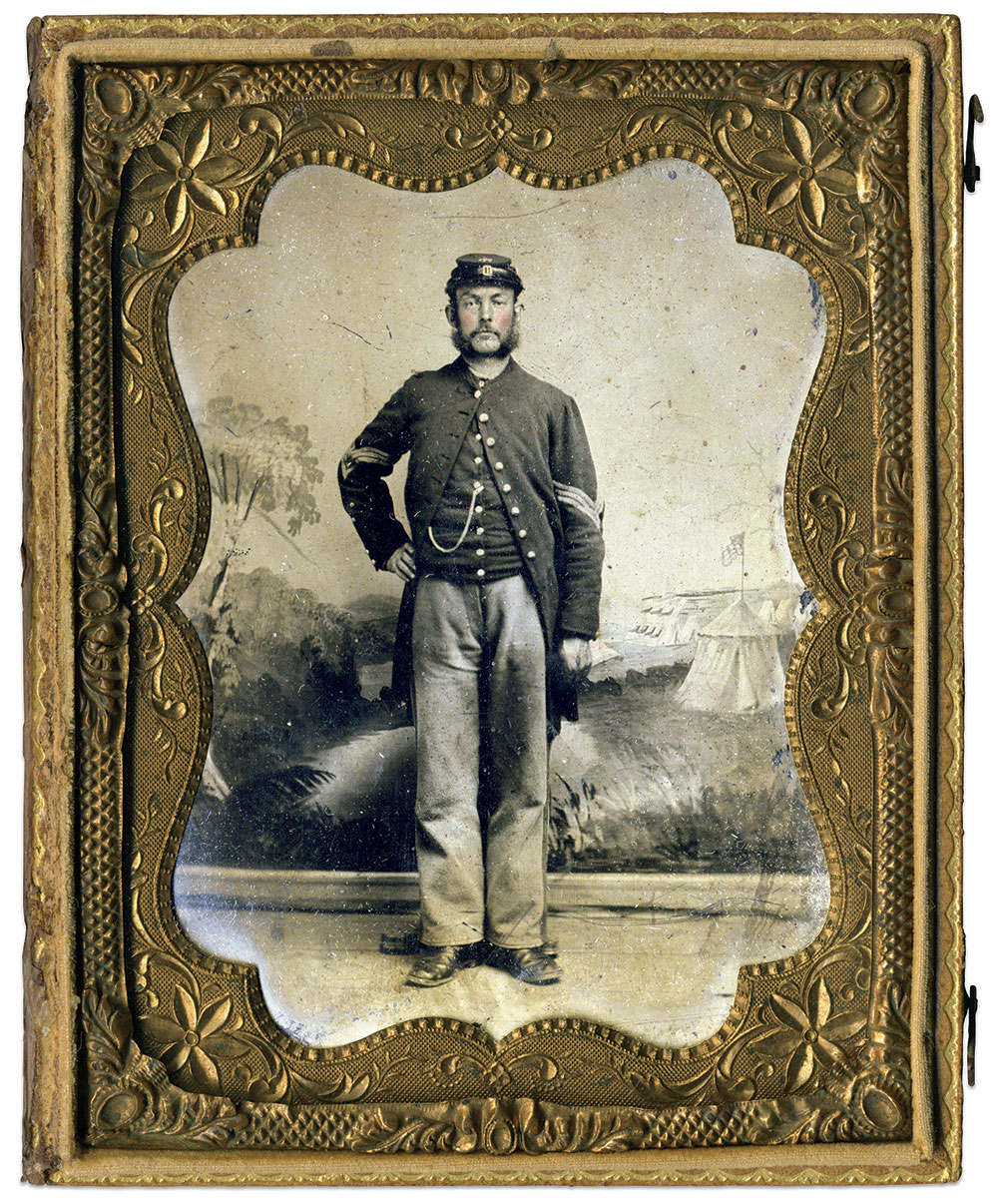 Quarter-plate tintype by an anonymous photographer. Jeff Kowalis Collection.