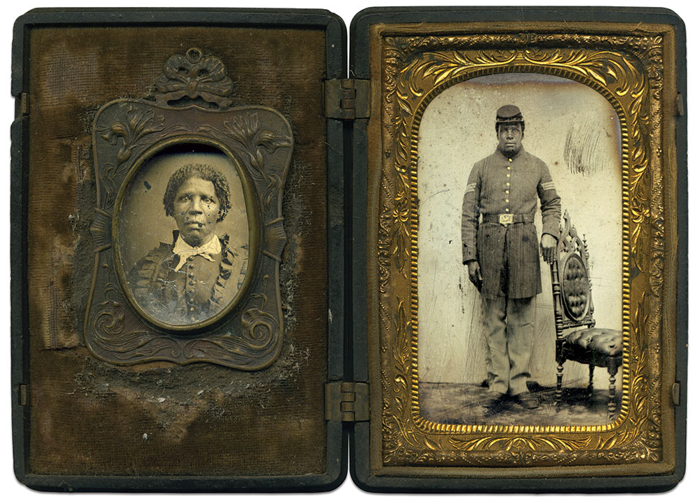 Eighth-plate tintype by an anonymous photographer. Joe Normandy Collection.