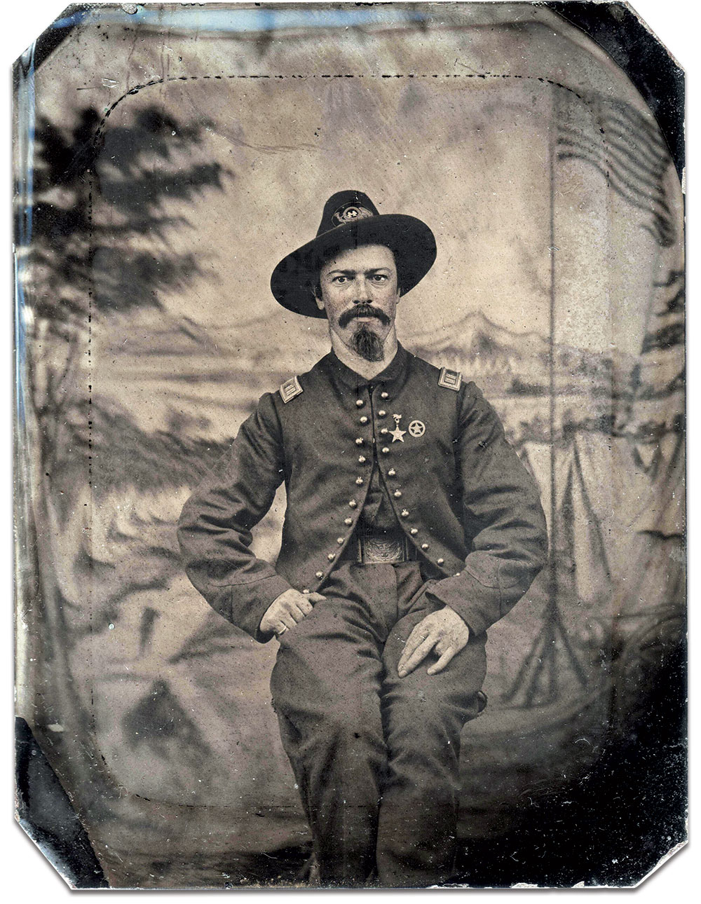 Quarter-plate tintype by an anonymous photographer. Joseph Stickelmyer collection.