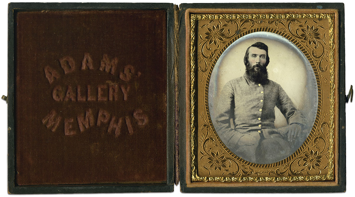 Sixth-plate tintype by Adams Gallery of Memphis, Tenn. John M. Hunt Collection.