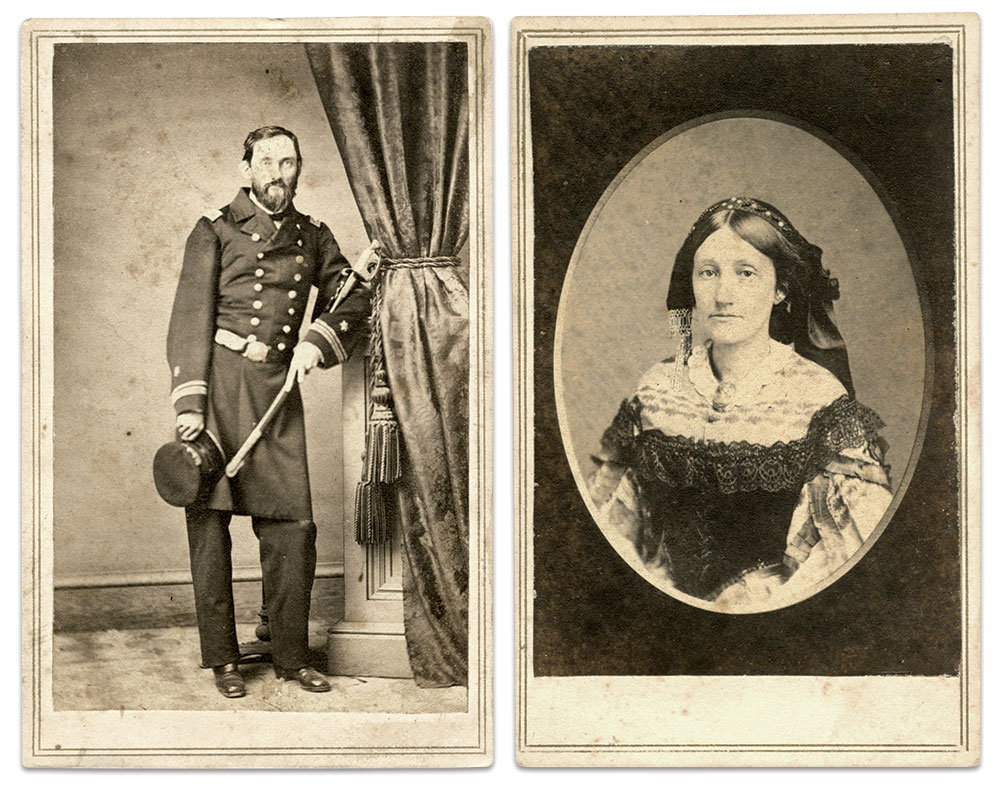 John and Eliza Johnston. Cartes de visite by T.L. Rivers of St. Louis, Mo. Author's Collection.