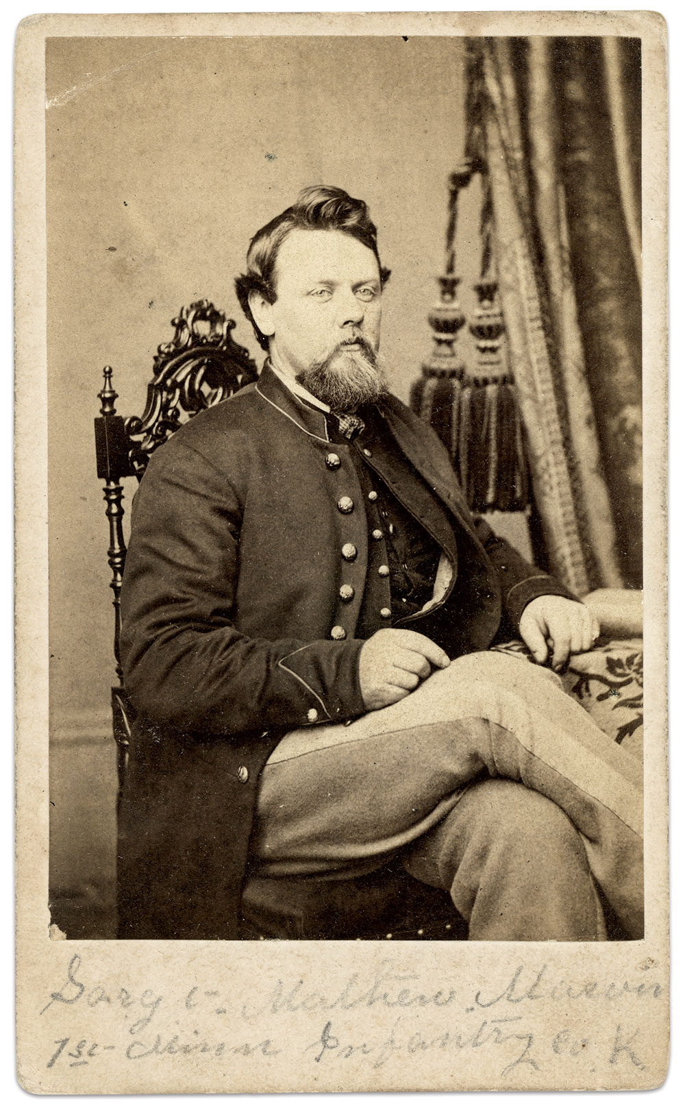 Carte de visite by Reynolds & Rider of Chicago, Ill. Charles Joyce Collection.