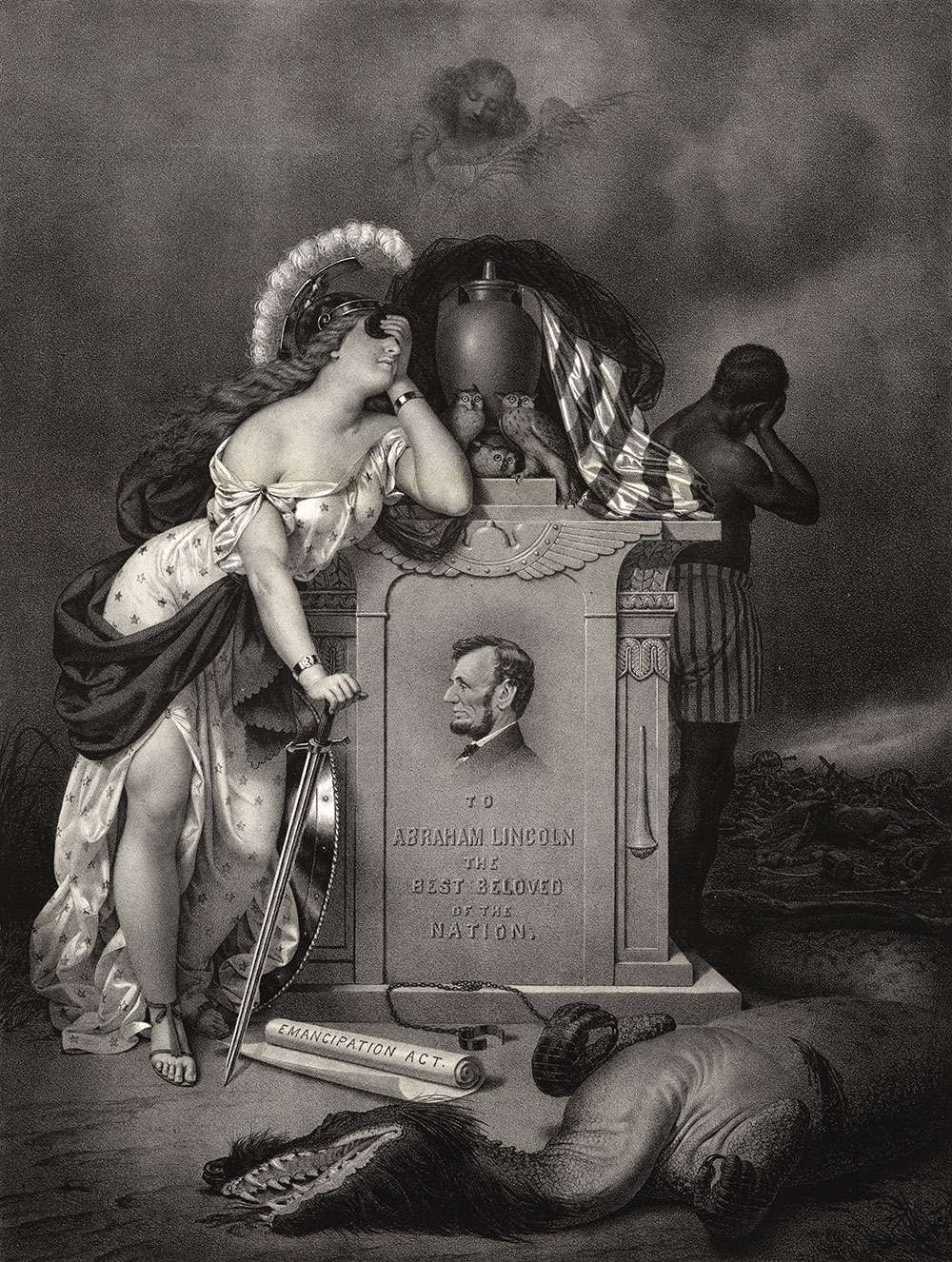 """""""In Memoriam,"""" by Pascal Loomis & James F. Swift of San Francisco, Calif., 1865. Library of Congress."""