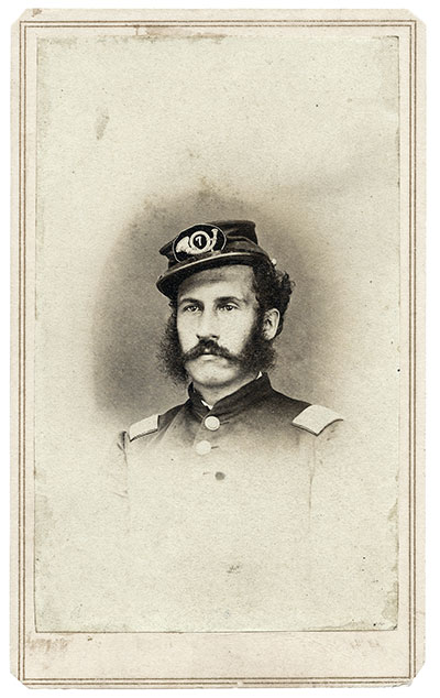 Capt. Henry W. Allen, 7th Illinois Infantry. Carte de visite by C.S. German of Springfield, Ill. Randy Beck collection.