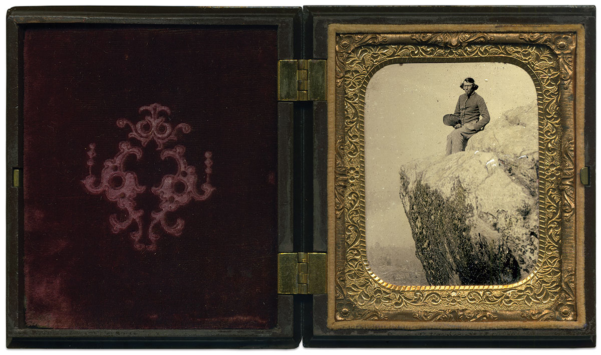 Sixth-plate tintype from the Sean Karr Collection.