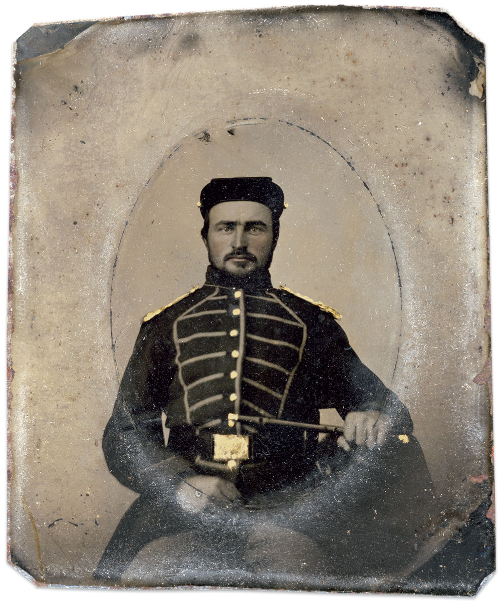 Sixth-plate tintype by an anonymous photographer. Megan Kemble Collection.