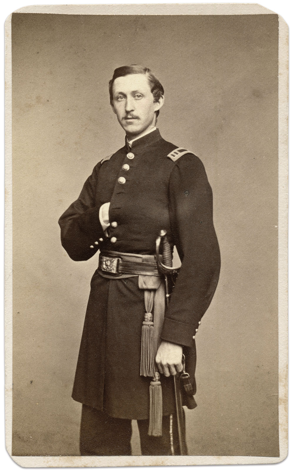 King, pictured as captain and quartermaster. Carte de visite by Henry Ulke of Washington, D.C. Ronald S. Coddington Collection.