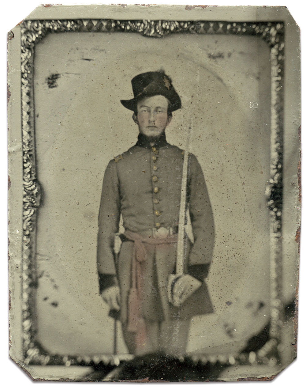 Ninth-plate tintype by an anonymous photographer. Lee Joyner Collection.