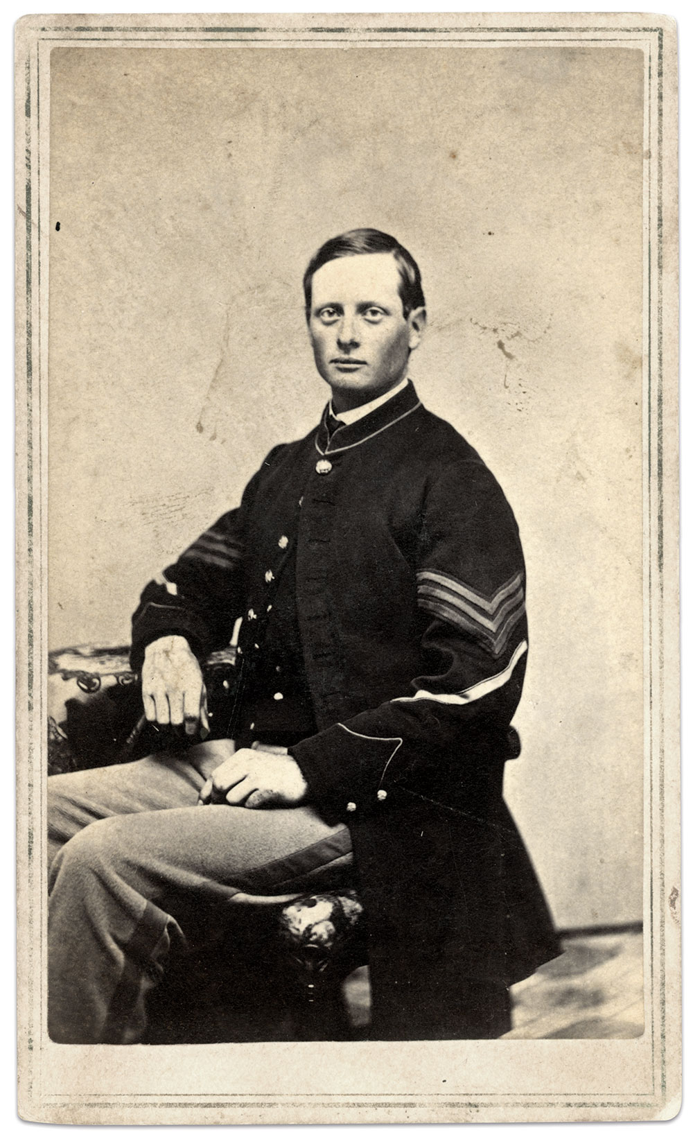 Little, pictured as a sergeant in 1864. Carte de visite by David O. Furnald of Manchester, N.H. Dave Morin Collection.