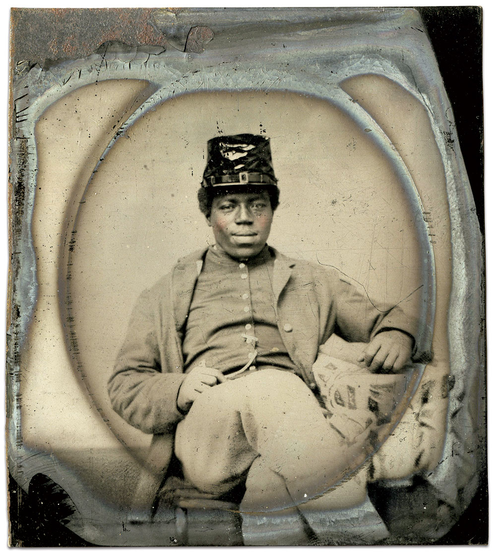 Sixth-plate tintype by an anonymous photographer. Paul Loane Collection.