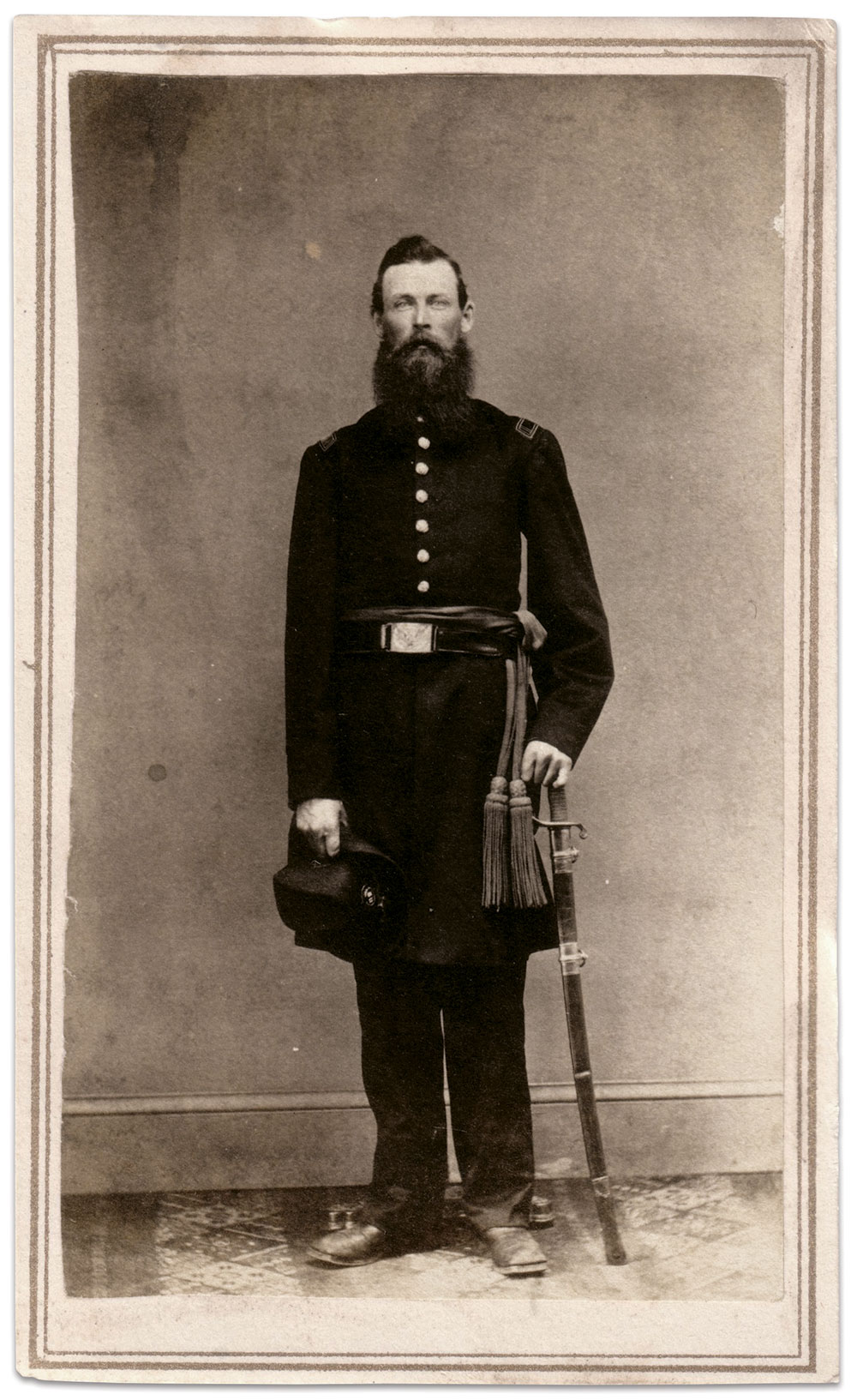 Carte de visite by an anonymous photographer. Brian White Collection.