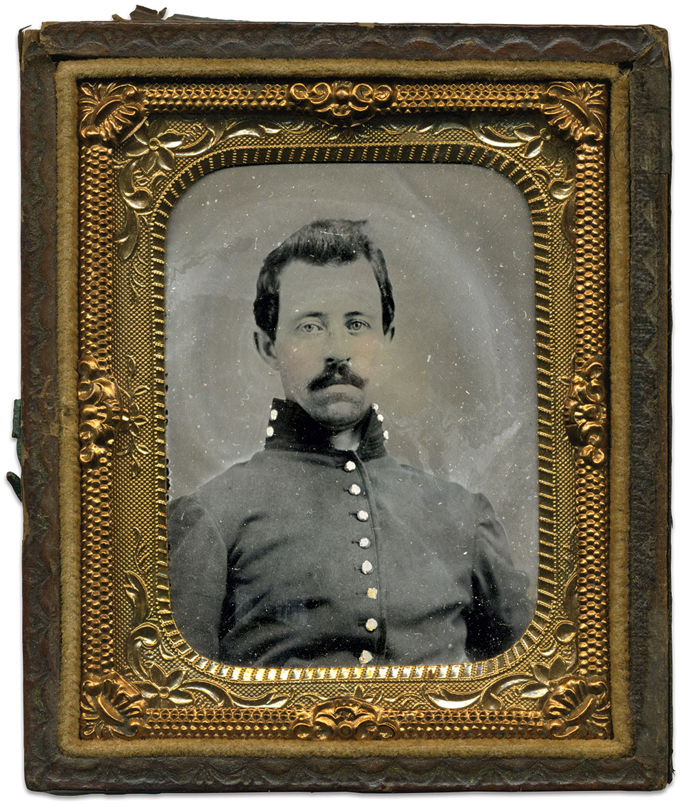 Sixth-plate tintype by an anonymous photographer. Jeff Luncan Collection.